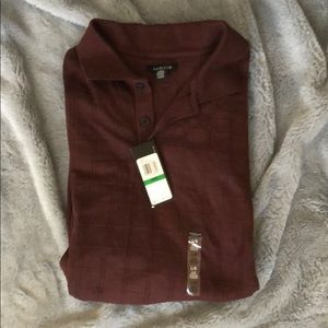 VanHuesen long Sleeve Polo Size L